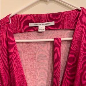 Diane von furrenberg pink wrap dress